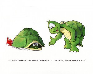 stick your nexk out