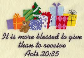 more blessed to give