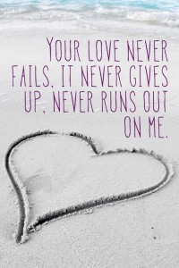 never gives up on me
